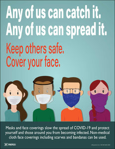 Any Of Us Can Catch It And Spread It – Safety Poster