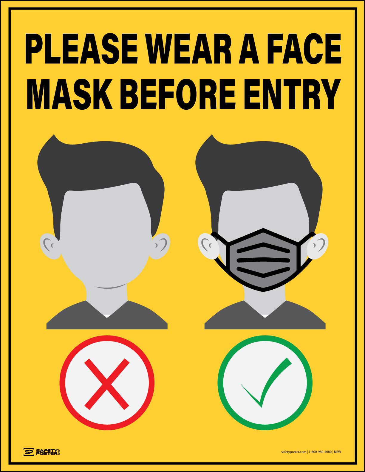 Please Wear A Face Mask Before Entry – Safety Poster