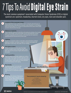7 Tips To Avoid Digital Eye Strain – Safety Poster