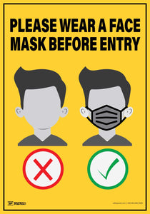 Please Wear A Face Mask Before Entry (Rectangle) – Floor Sign