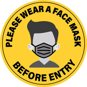 Please Wear A Face Mask Before Entry (Circle) – Floor Sign