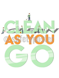 Clean As You Go - Safety Poster New Posters General Hospitality