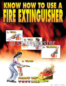 Safety Poster - Know How To Use A Fire Extinguisher - safetyposter.com