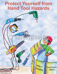 Safety Poster - Protect Yourself From Hand Tool Hazards - safetyposter.com