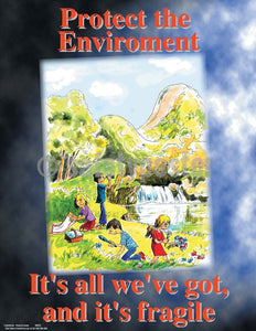 Protect The Environment Its Fragile - Safety Poster Chemical