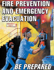Fire Prevention And Emergency Evacuation - Safety Poster General