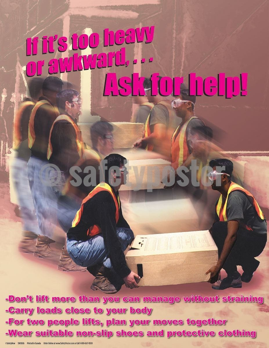 Safety Poster - Ask For Help - safetyposter.com