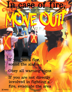 In Case of Fire, Move Out - Safety Poster