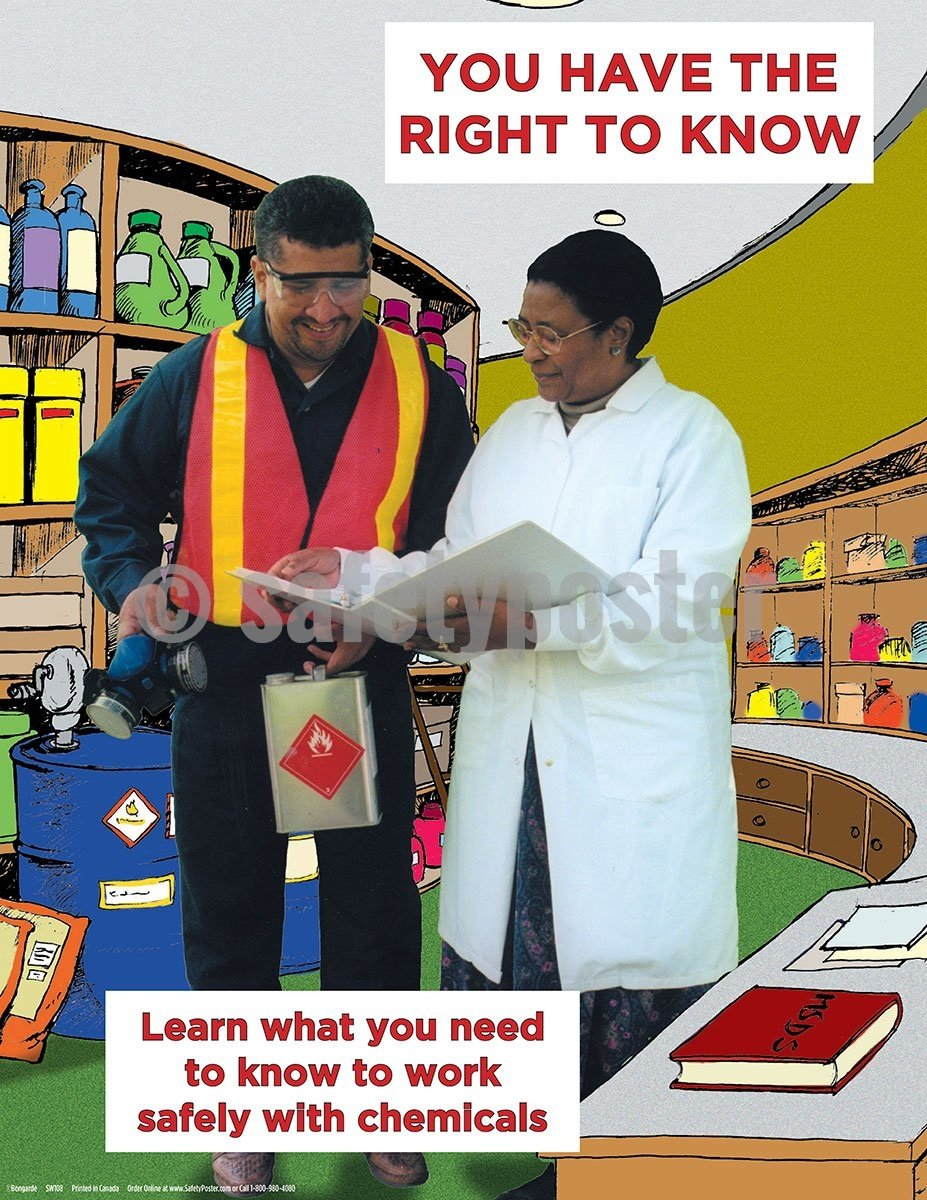 You Have The Right To Know - Safety Poster Chemical