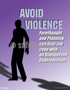 Avoid Violence Cope With Unexpected Confrontation - Safety Poster Health & Wellness