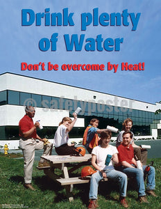 Drink Plenty Of Water - Safety Poster Seasonal