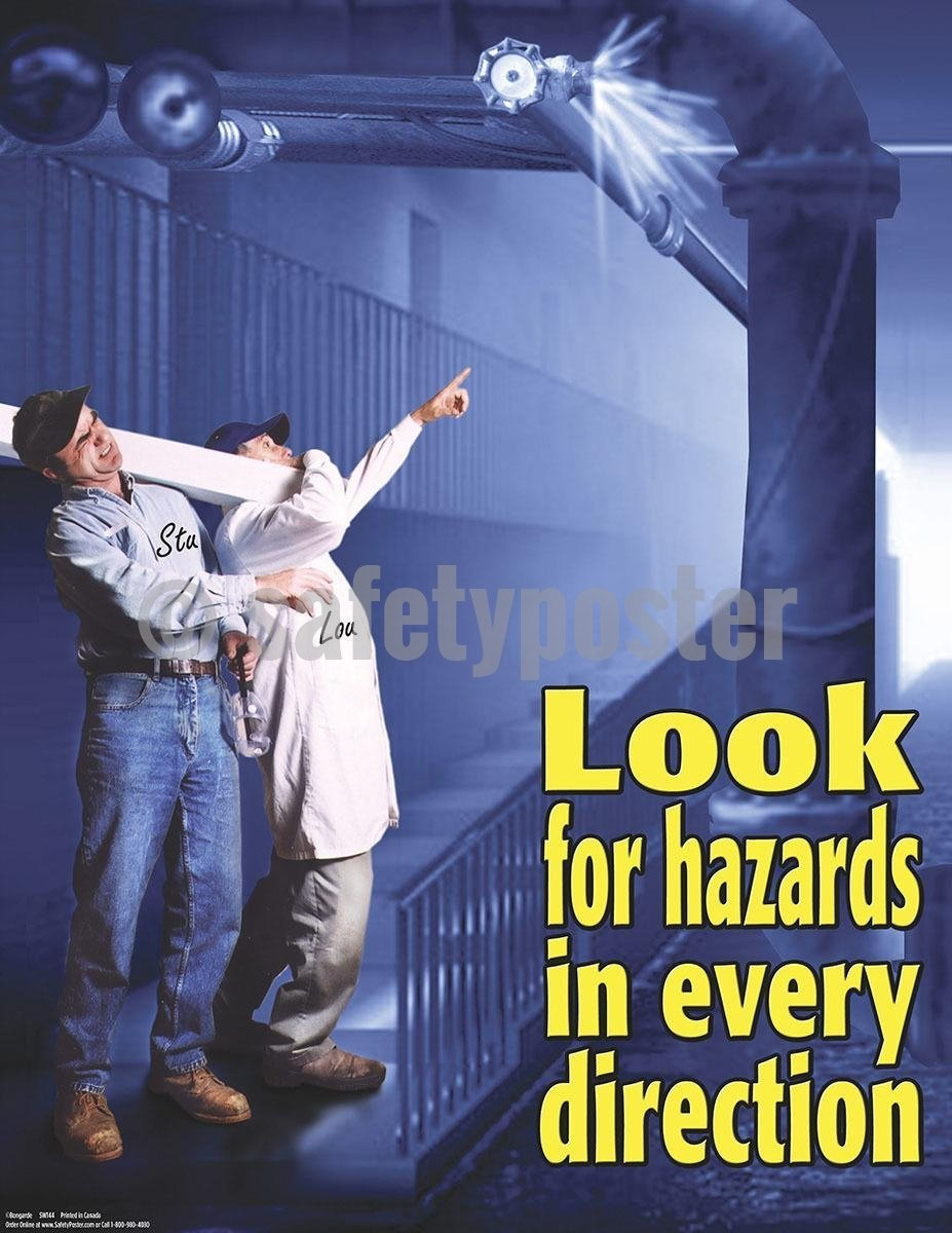 Safety Poster - Look For Hazards In Every Direction - safetyposter.com