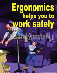 Safety Poster - Ergonomics Helps You To Work Safely - safetyposter.com