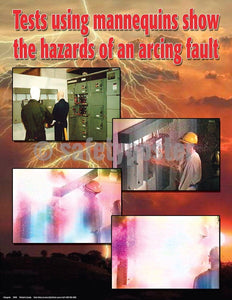 Safety Poster - Hazards Of An Arcing Fault - safetyposter.com