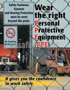 Safety Poster - Wear The Right PPE - safetyposter.com