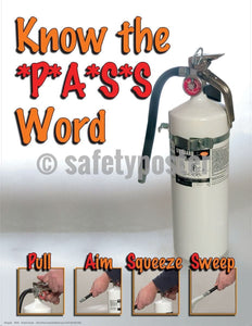 Safety Poster - Know The PASS Word (White) - safetyposter.com
