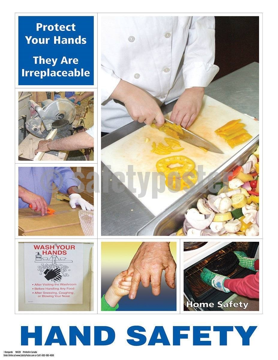 Safety Poster - Protect Your Hands They Are Irreplaceable - safetyposter.com