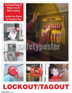 Safety Poster - Lockout/Tagout Helps You To Work Safely - safetyposter.com