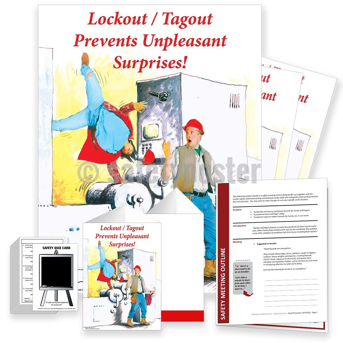 Safety Meeting Kit - Lockout Tagout Prevents Unpleasant Surprises Kits