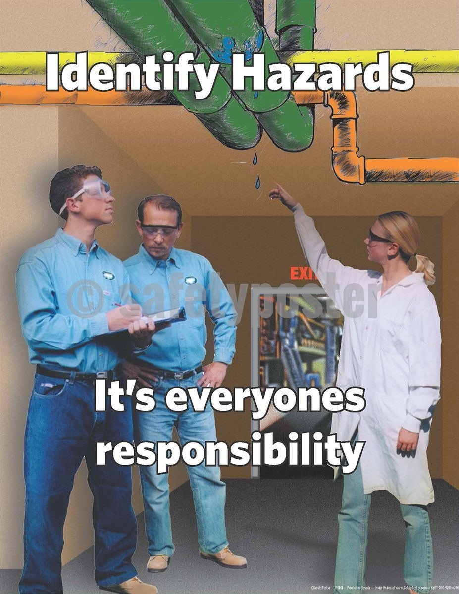 Safety Poster - Identifying Hazards - safetyposter.com