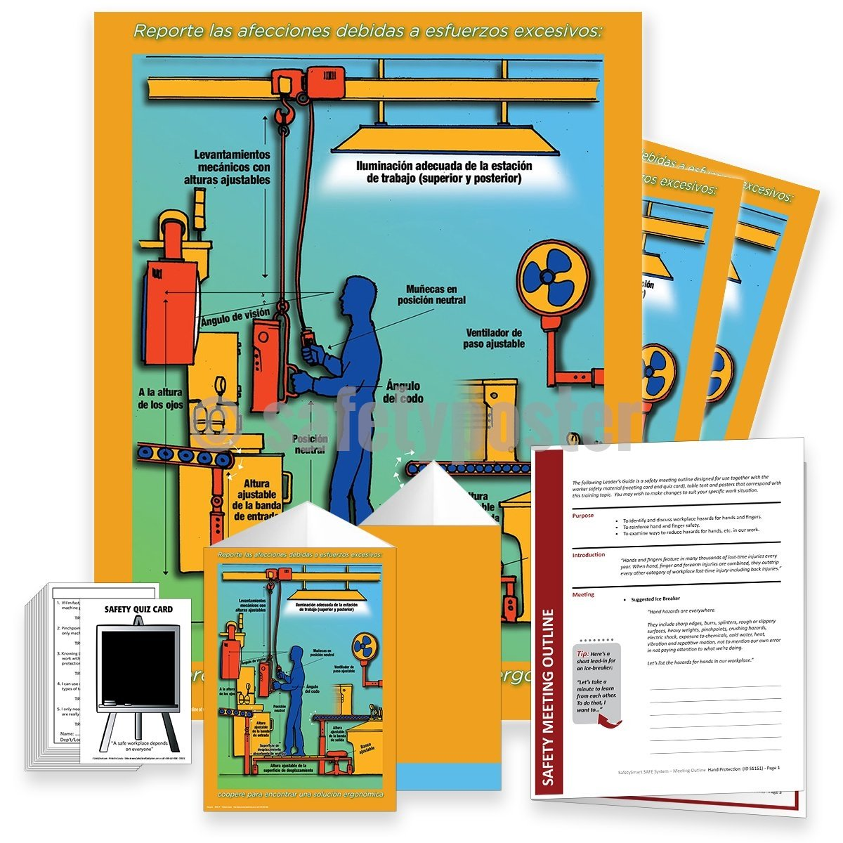 Safety Meeting Kit - Report Strain: Help Find Ergonomic Solutions Kits
