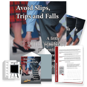 Safety Meeting Kit - Avoid Slips Trips And Falls Kits