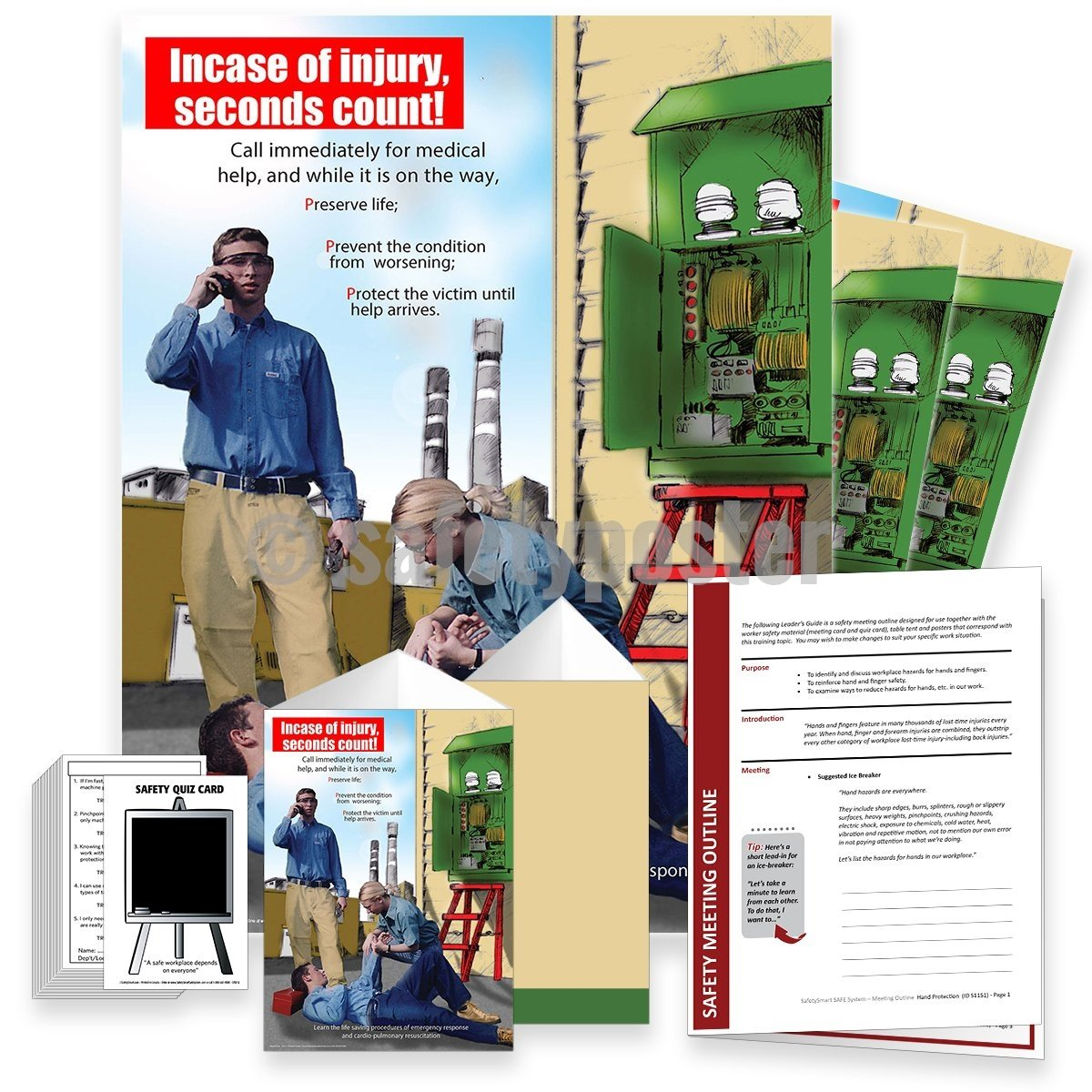 Safety Meeting Kit - In Case Of Injury Seconds Count Kits