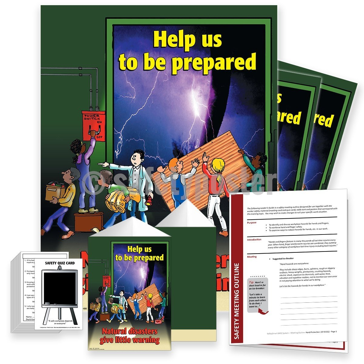 Safety Meeting Kit - Natural Disasters Give Little Warning Kits