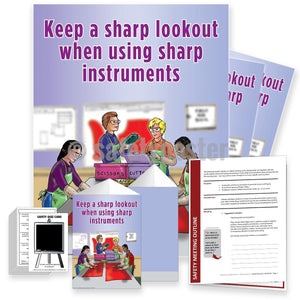 Safety Meeting Kit - Keep A Sharp Lookout When Using Instruments Kits