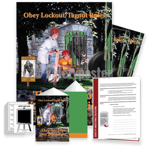 Safety Meeting Kit - Obey Lockout Tagout Rules Kits