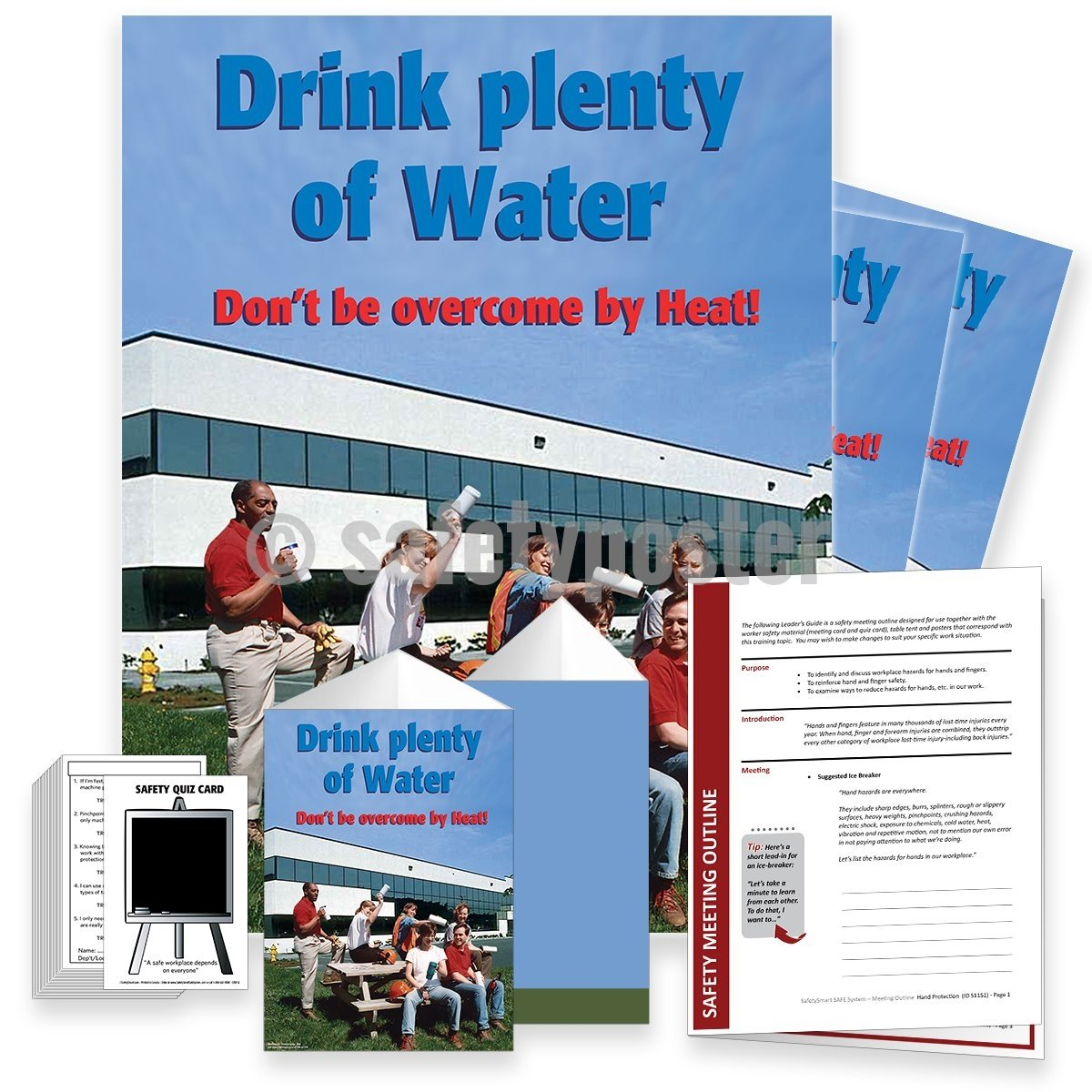 Safety Meeting Kit - Drink Plenty Of Water Kits
