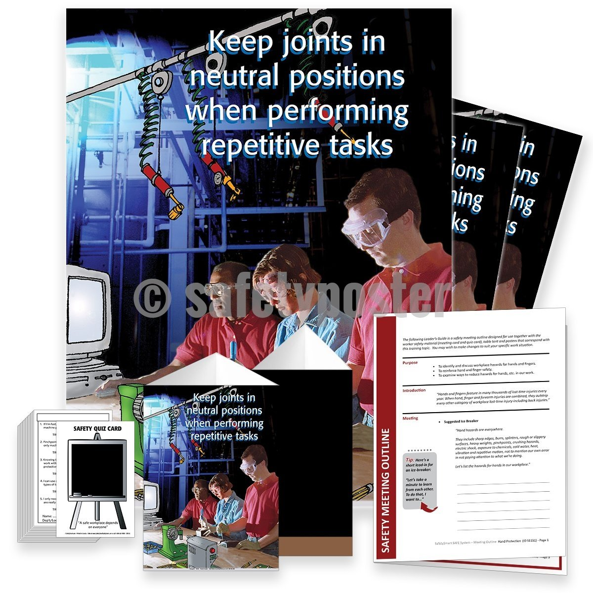 Safety Meeting Kit - Keep Joints In Neutral Positions For Repetitive Tasks Kits