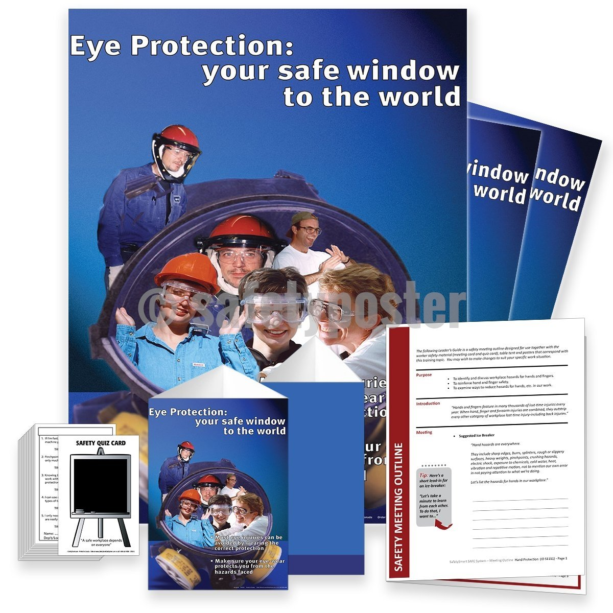 Safety Meeting Kit - Eye Protection Your Safe Window To The World Kits