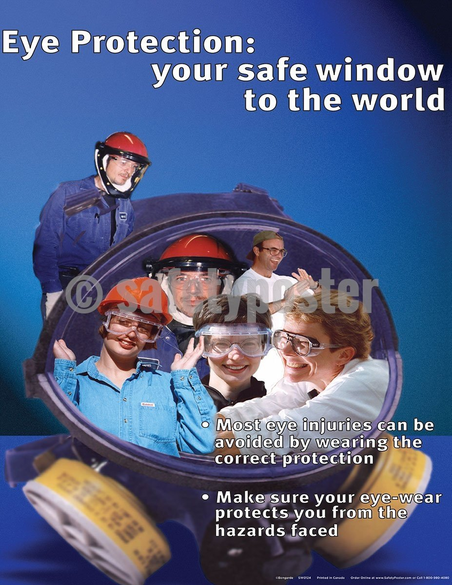 Eye Protection: Your Safe Window To The World - Safety Poster Personal Protective Equipment