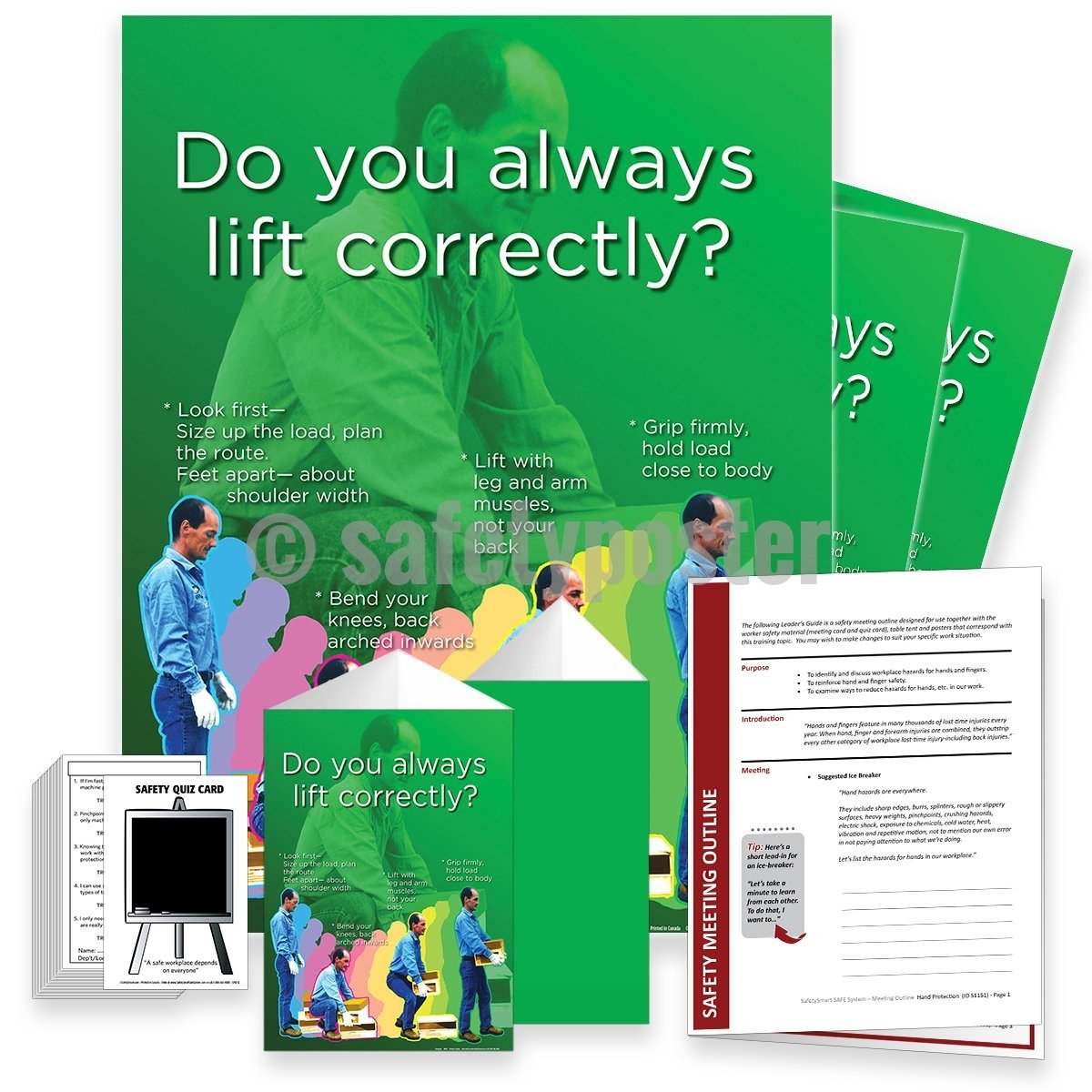 Safety Meeting Kit - Do You Always Lift Correctly Kits