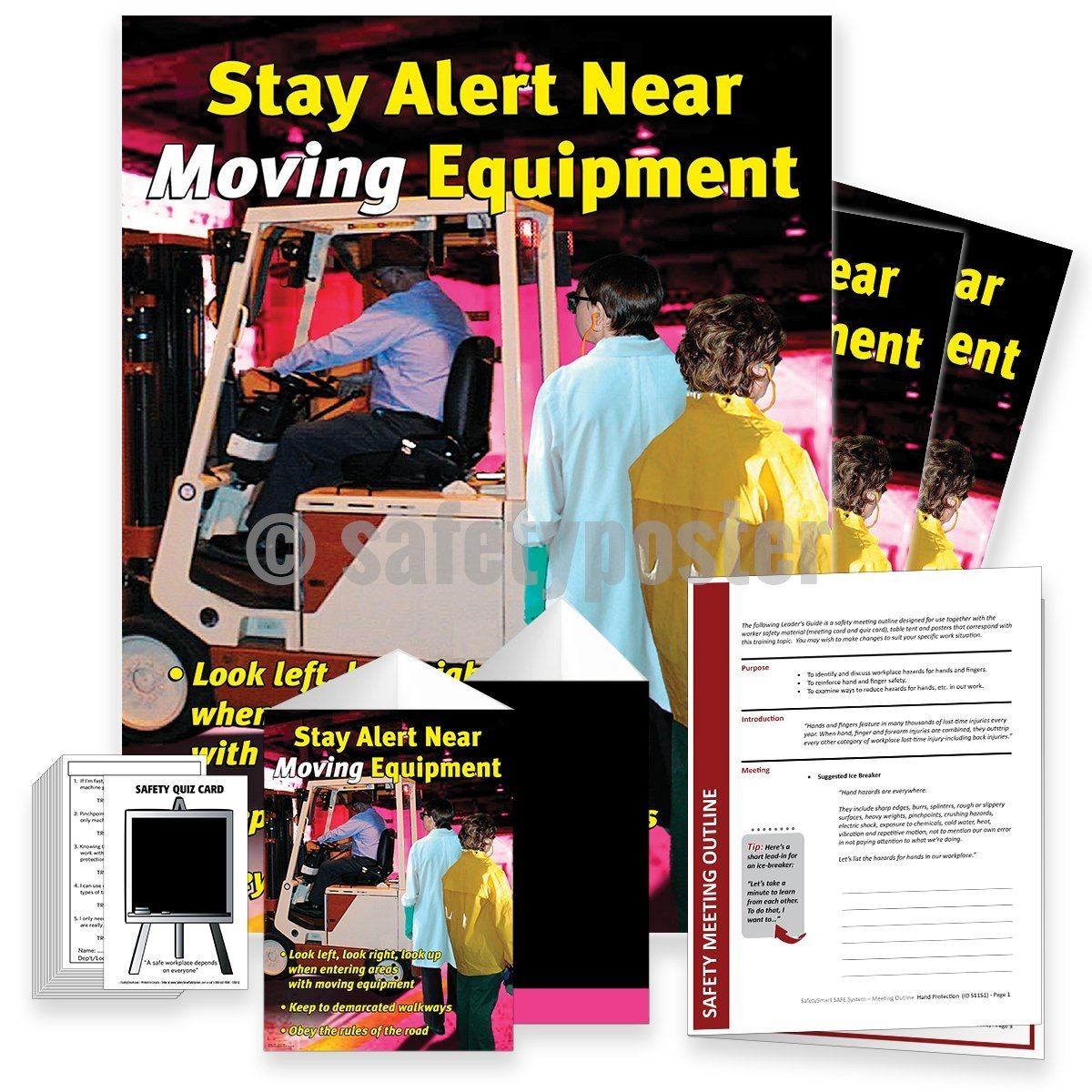 Safety Meeting Kit - Stay Alert Near Moving Equipment Kits