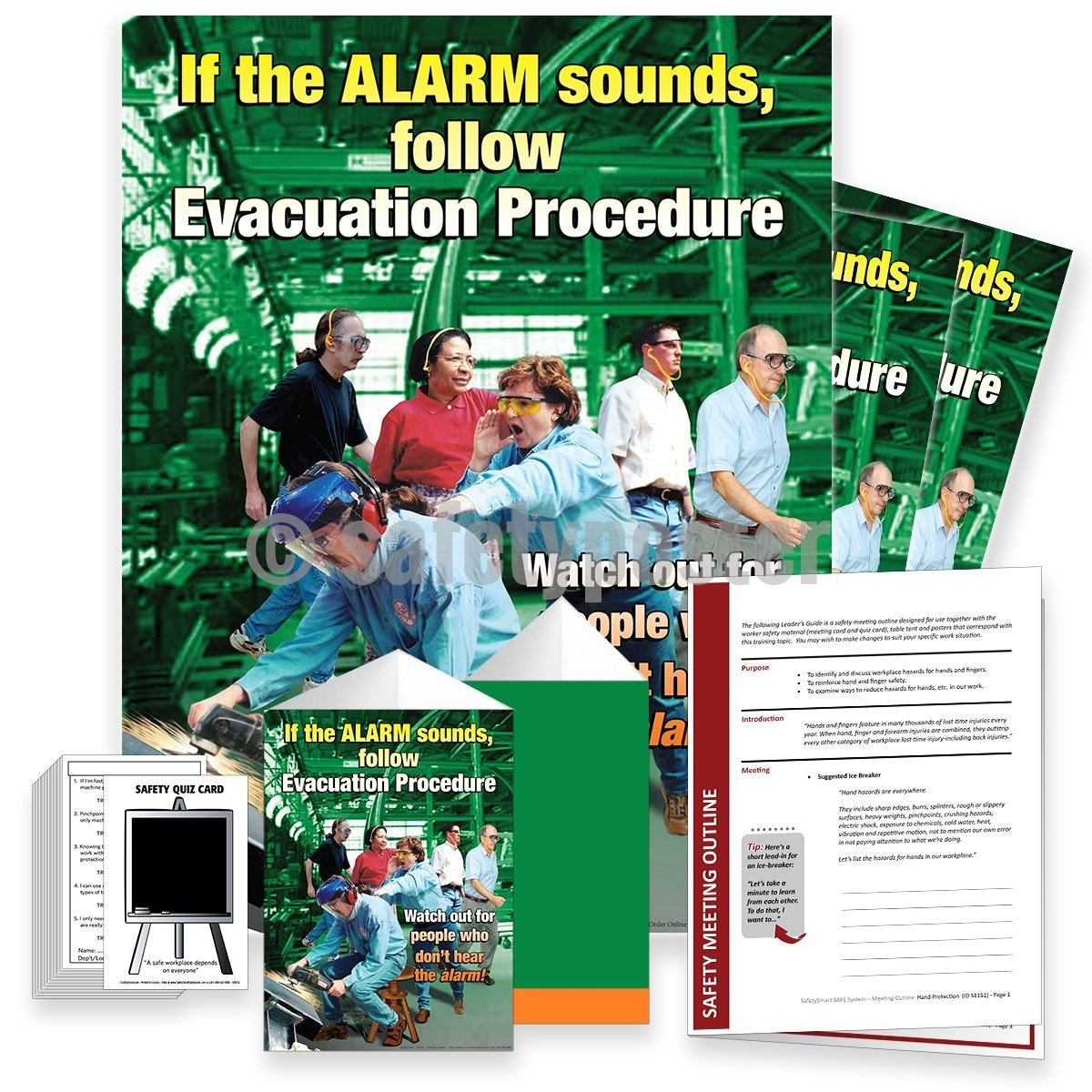 Safety Meeting Kit - Follow Evacuation Procedure Kits