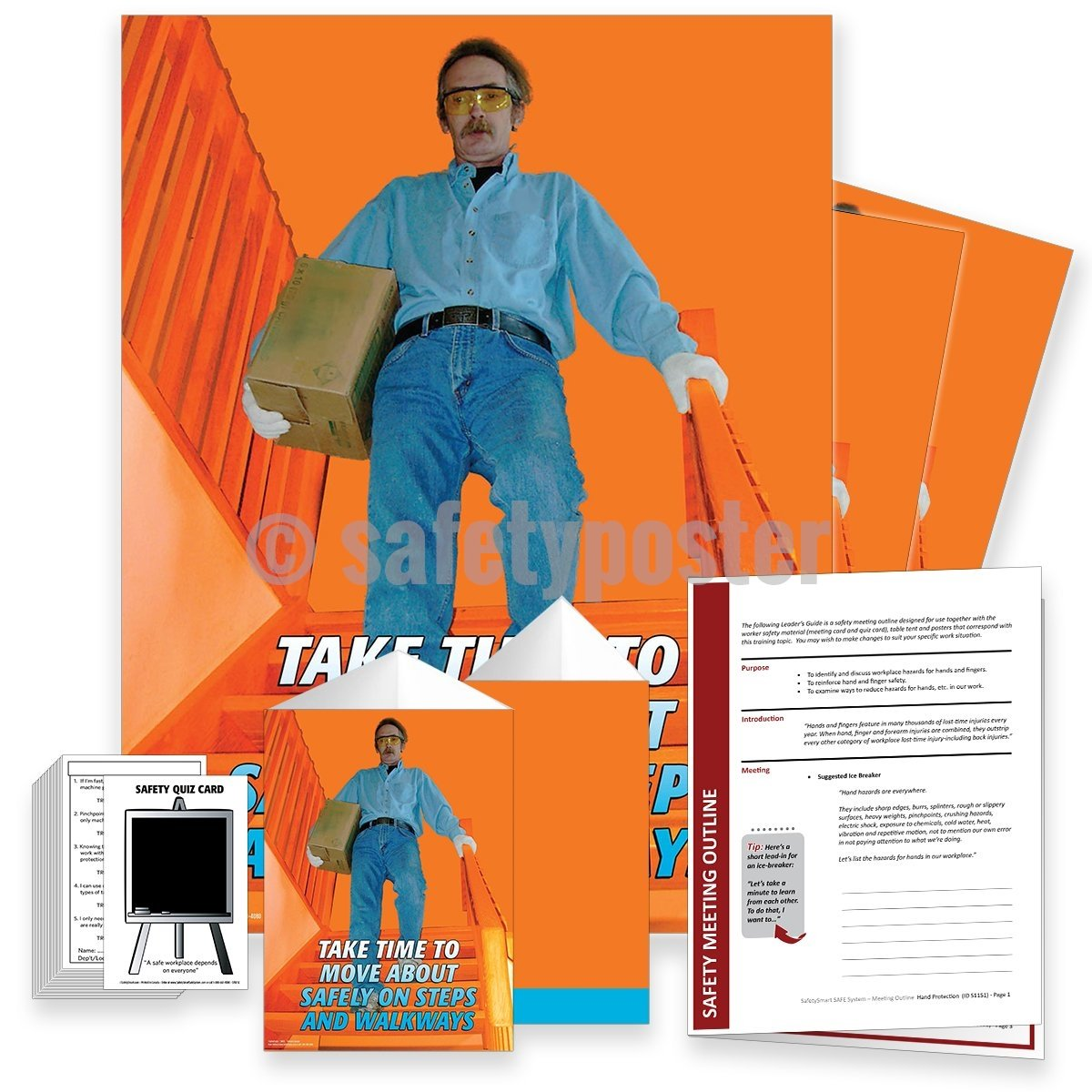 Safety Meeting Kit - Move About Safely On Steps And Walkways Kits