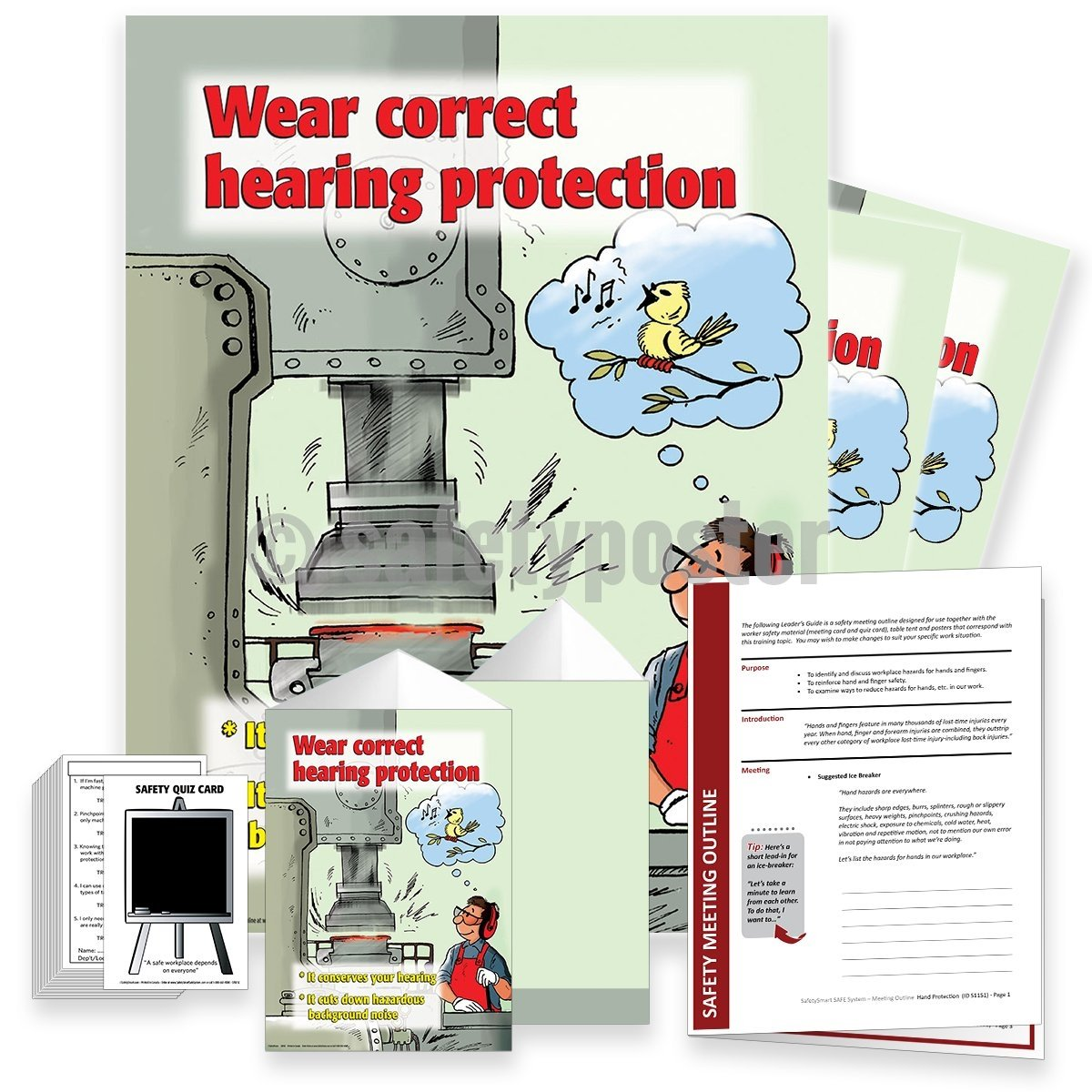 Safety Meeting Kit - Wear Correct Hearing Protection Kits