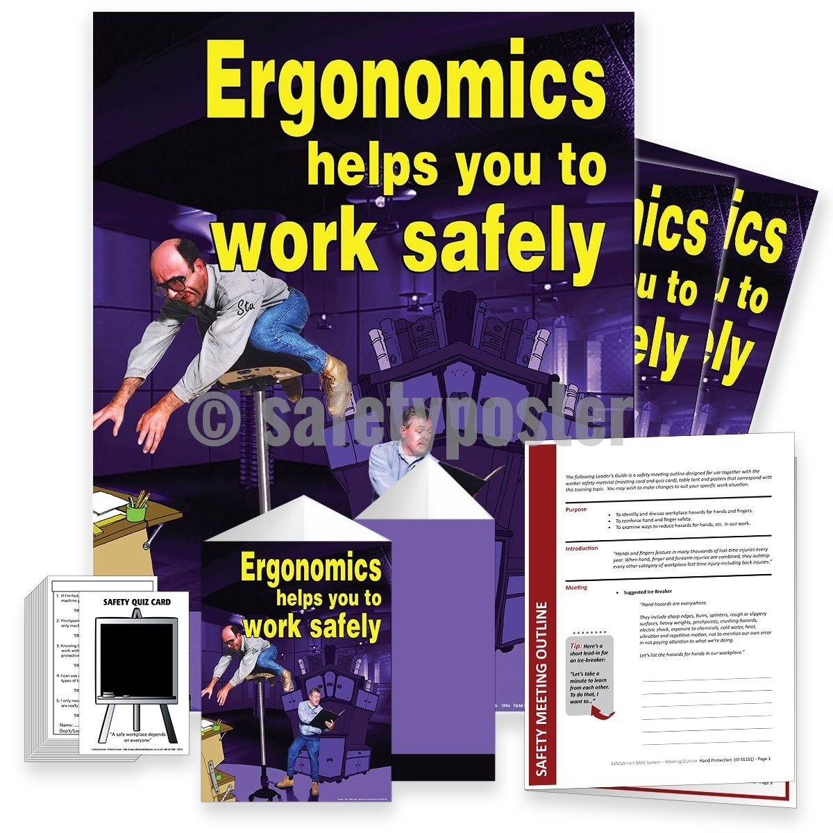 Safety Meeting Kit - Ergonomics Helps You To Work Safely Kits