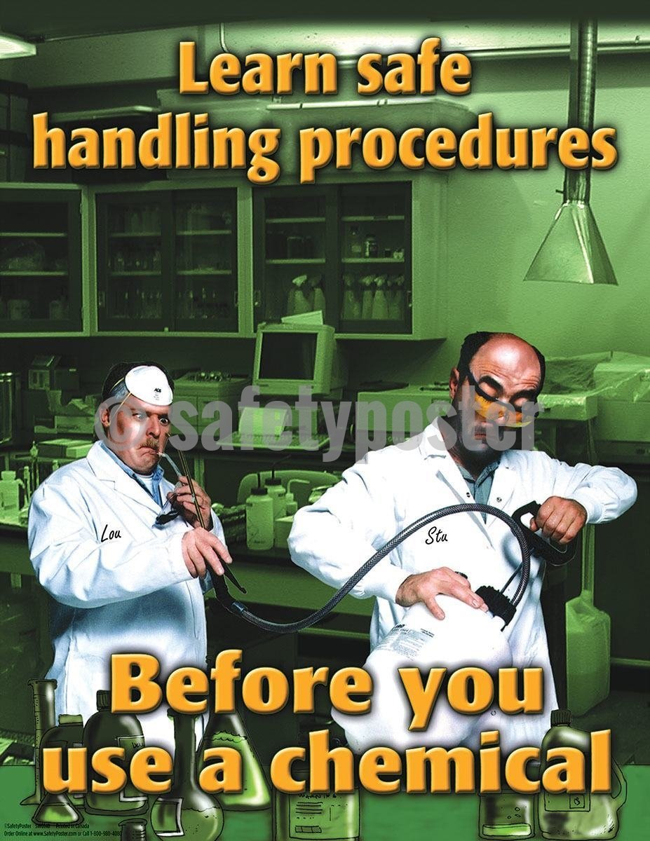 Safety Poster - Learn Safe Handling Procedures - safetyposter.com
