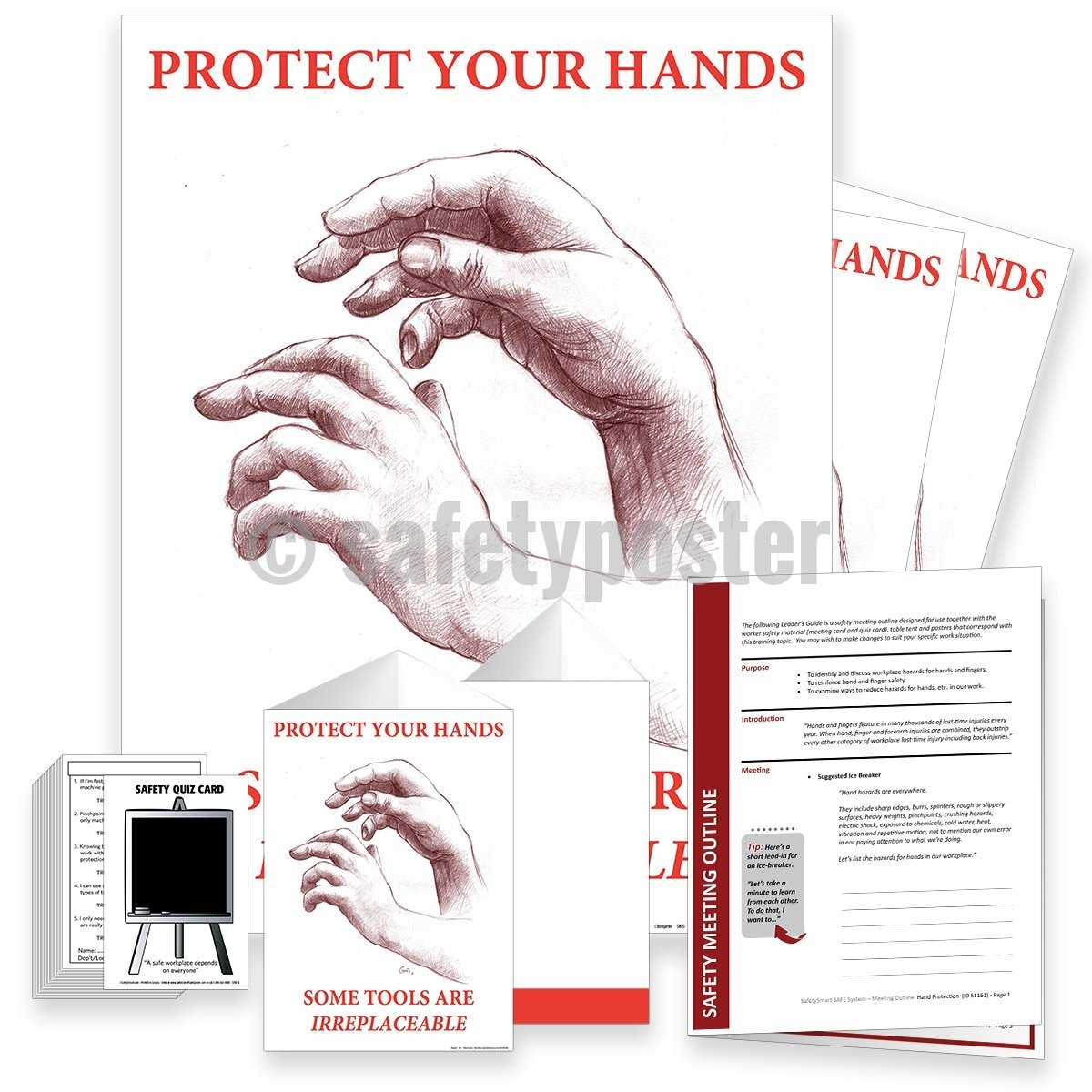 Safety Meeting Kit - Protect Your Hands Some Tools Are Irreplaceable Kits
