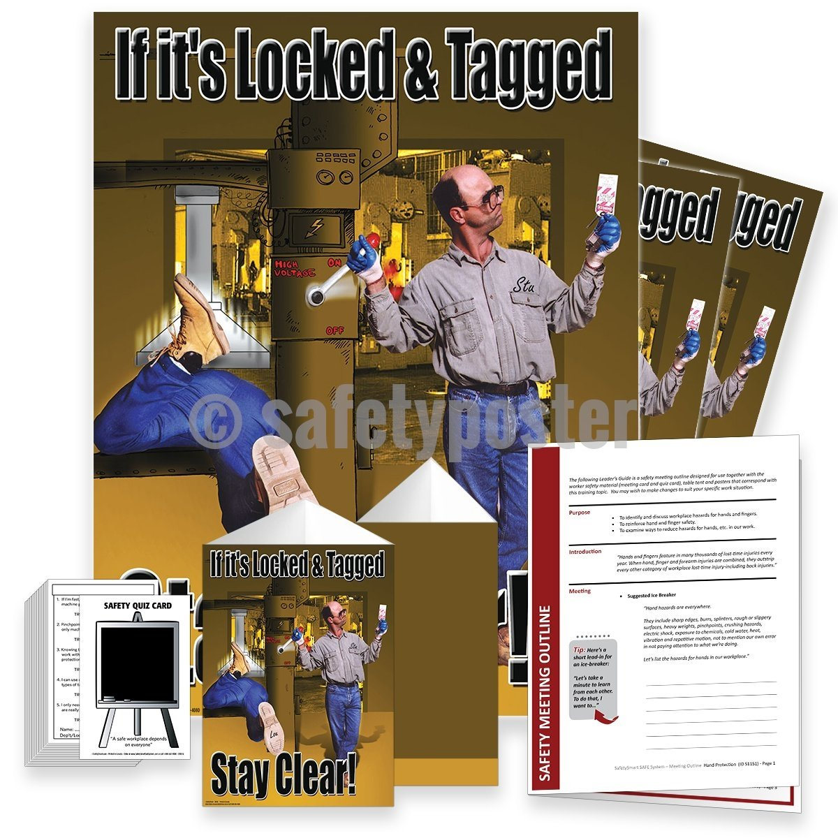 Safety Meeting Kit - Locked And Tagged Stay Clear Kits