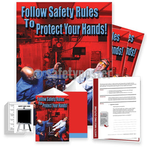 Safety Meeting Kit - Follow Rules To Protect Your Hands Kits
