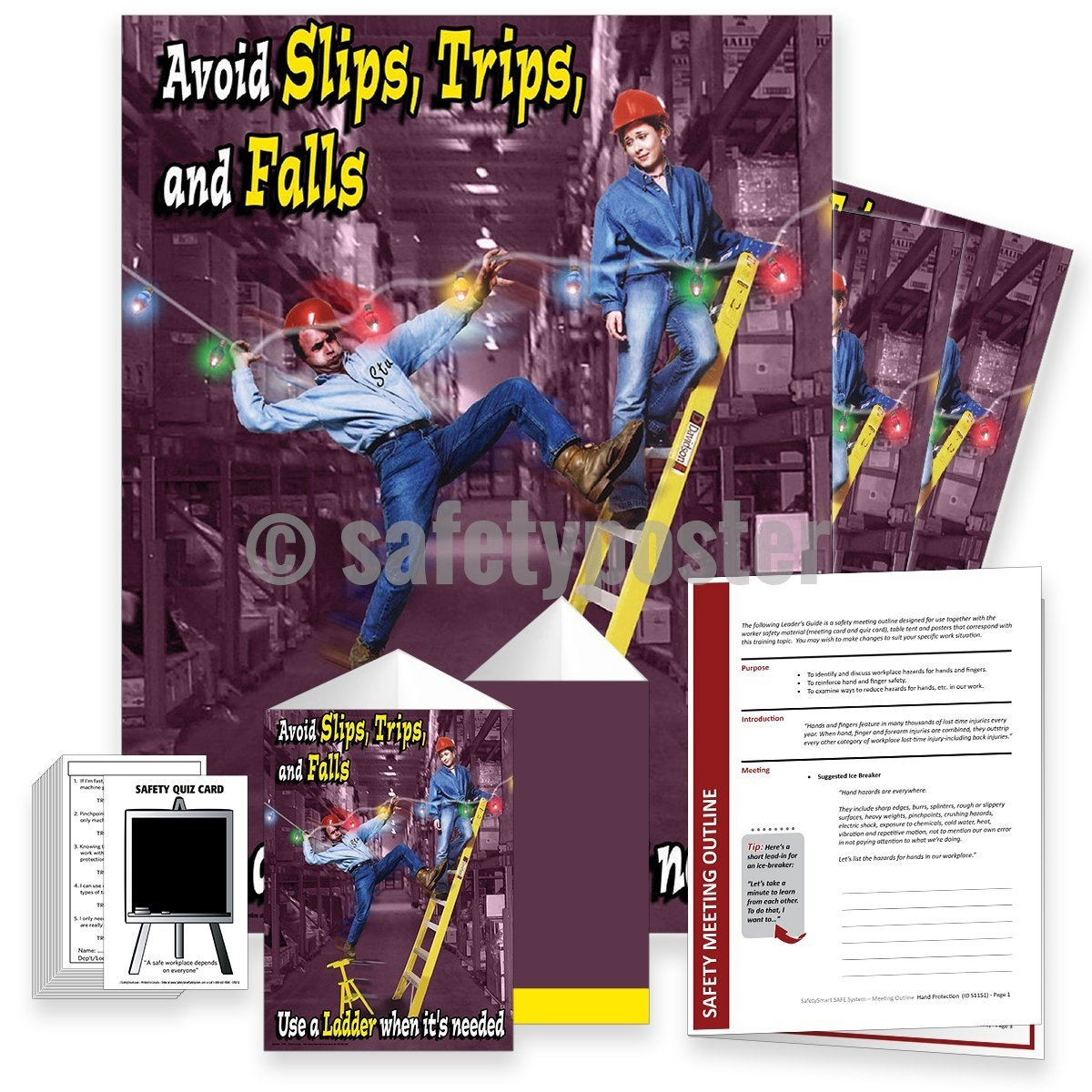Safety Meeting Kit - Use A Ladder When Its Needed Kits