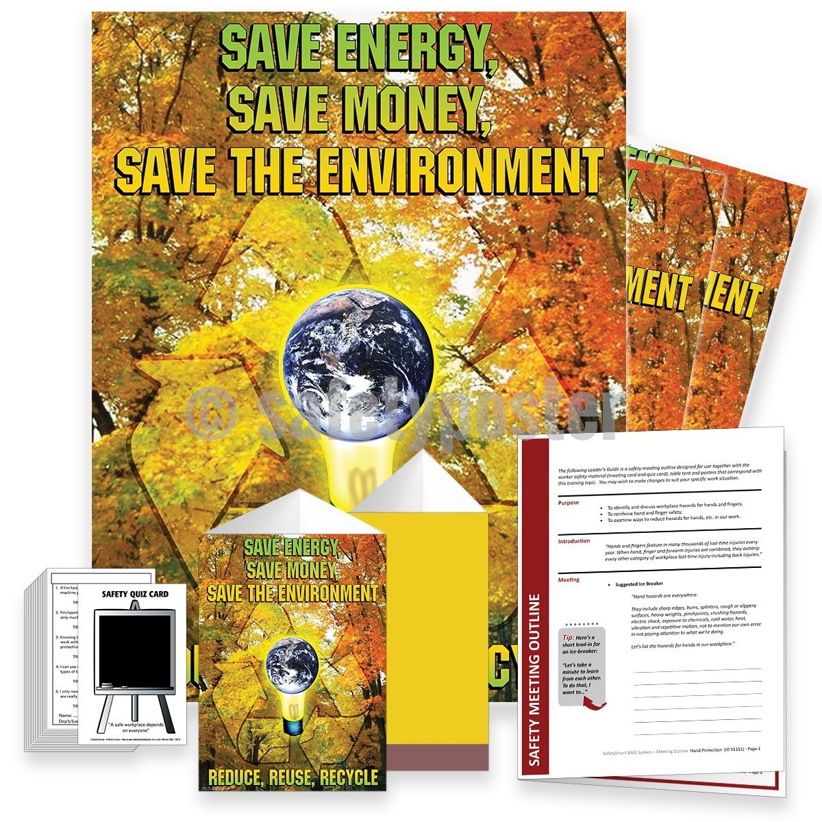Safety Meeting Kit - Save Energy Save Money Save The Environment