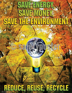 Safety Poster - Save Energy Save Money Save The Environment - safetyposter.com