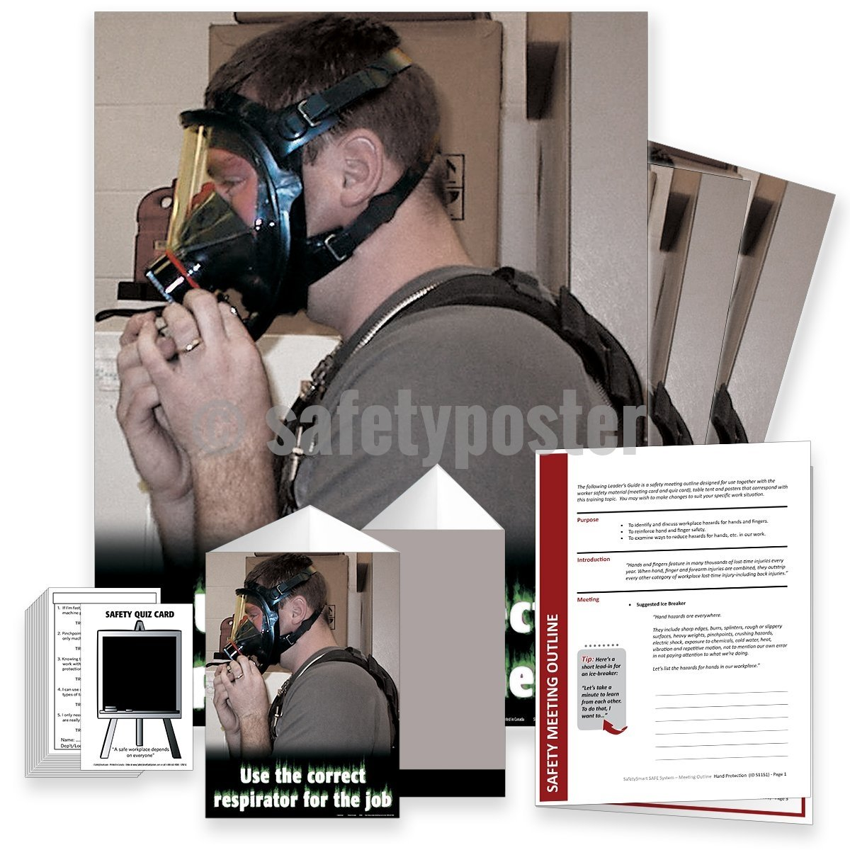 Safety Meeting Kit - Use The Correct Respirator For Job Kits