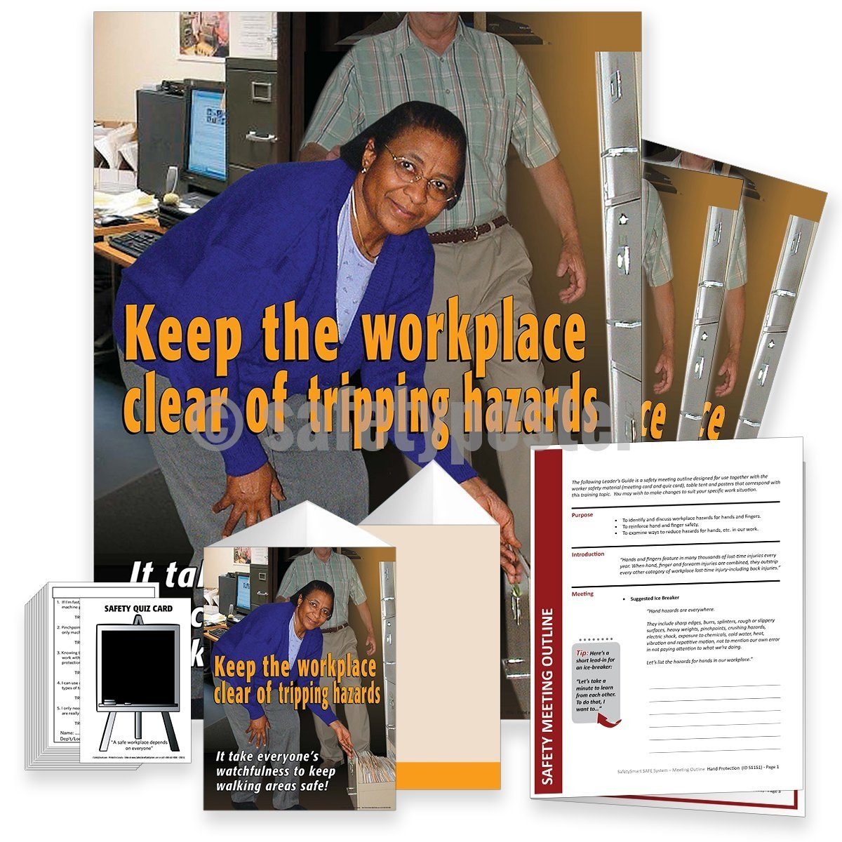 Safety Meeting Kit - Keep The Workplace Clear Of Tripping Hazards Kits