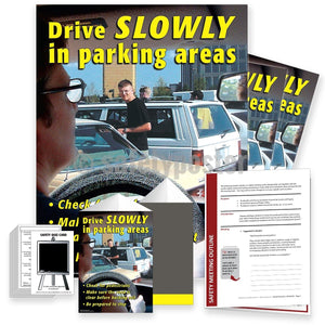 Safety Meeting Kit - Drive Slowly In Parking Areas Kits